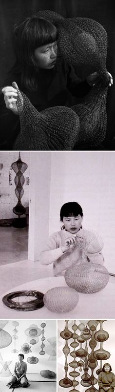 ruth asawa--The art world has lost something lovely with her passing.