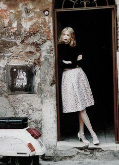 Jodie Kidd by Friedemann Hauss