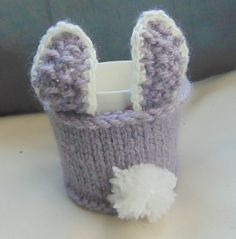 Easter Bunny Mug Cosy/Cozy by LittleDaisyKnits on Etsy