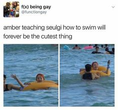 Awww. I'd love if amber taught me how to swim