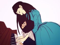 Eliza and Philip Hamilton practicing piano by Dorothy in Wonderland <<<< It's okay.... I didn't need my heart anyways.