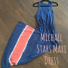 Michael Stars Maxi Dress This all cotton steel blue sleeveless maxi dress by Michael Stars is super comfortable and Bohio chic. Perfect for festival season. Only worn once! Michael Stars Dresses Maxi