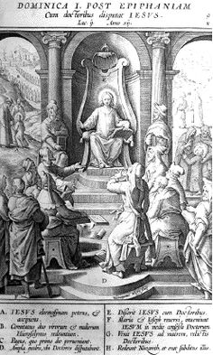 9. JESUS WITH THE SCHOLARS AT THE TEMPLE