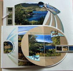 Baby Scrapbook, Travel Scrapbook, Scrapbook Pages, Scrapbooking Layouts, Digital Scrapbooking, Toronto, Album Design, Graphic 45, Pop Up
