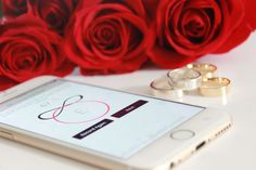 Design and Personalize your Wedding Band with Your loved ones ACTUAL HEARTBEAT from the Everly Design App In A Heartbeat, App Design, Wedding Bands, First Love, Jewelry Design, Rings, First Crush, Ring, Puppy Love