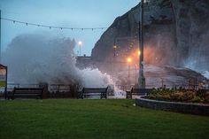 Waves crashing onto Wildersmouth beach Ilfracombe North Devon #NDevon #NorthDevon #Devon