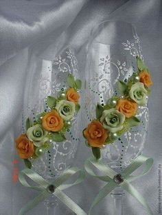 Idéias de  taças para brindar  em casamentos .