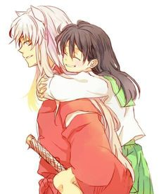 InuYasha & Kagome I loved it when he would carry her on his back!