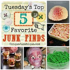 Unique Junktique: Tuesday's Top 5 Favorite Junk Finds #7 Featuring A Zombie Buffet