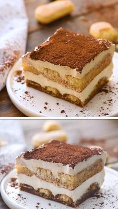 Mix up your holiday dessert with this easy Tiramisu recipe! It's perfect because it needs to be made ahead of time. Less stress when hosting a holiday. Espresso dipped ladyfingers and layers of Mascar Tiramisu Dessert, Bolo Tiramisu, Easy Tiramisu Recipe, Tiramisu Mascarpone, Chocolate Tiramisu, Chocolate Cake, Ina Garten Tiramisu Recipe, Tiramisu Recipe With Cream Cheese, Original Tiramisu Recipe