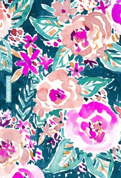 FULL ON FLORAL | Barbarian #floral #watercolor