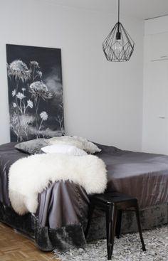 Makuuhuone Shag Rug, Interiors, Blanket, Rugs, Bed, Home Decor, Shaggy Rug, Farmhouse Rugs, Decoration Home