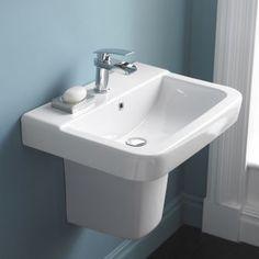 Granger basin with semi pedestal by Hudson Reed #basin