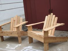 Cane & Rita over at This Sorta Old Life posted a DIY on Adirondack styled chairs  back in July. If you're not inclined toward woodworkin...