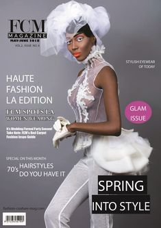 Glam Issue 2018 Cover Credits Model: Banke Folashade DesIgner:Yukimuli Photographer: Barry Druxman Make-up/Hairstylists: Sherry Owens  The Glam Issue showcases high fashion trends.  Glam Issue 2018 Cover Credits Model: Banke Folashade DesIgner:Yukimuli Photographer: Barry Druxman Make-up/Hairstylists: Sherry Owens  The Glam Issue showcases high fashion trends. It launches this weekend. High Fashion Trends, 70s Hair, Red Party, Formal Wedding, Couture Fashion, Spring Fashion, Marie, Women Wear, Product Launch