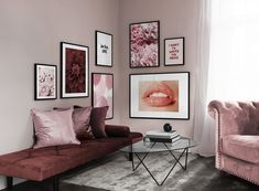 Page 3 - Gallery wall for the living room. Inspiration for the living room - Desenio Decor Room, Living Room Decor, Bedroom Decor, Living Room Inspiration, Home Decor Inspiration, Mauve Living Room, New Room, Home And Living, Decorating Your Home