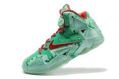 2018 Discount Womens Nike LBJ 11 Christmas Red Green 616175 301 Cheap Nike  Running Shoes 0aac18117