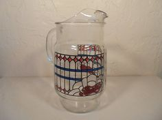 Hey, I found this really awesome Etsy listing at https://www.etsy.com/listing/508553941/rare-vintage-pepsi-cola-pitcher-red-blue