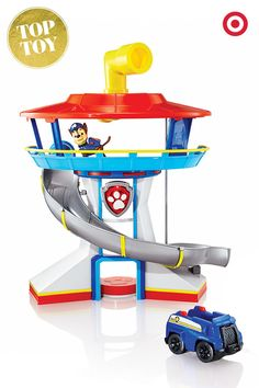 This action-packed gift idea for kids will have them on the lookout for bad guys with Chase the Police Pup from Paw Patrol. Sound the alarm and whip down the slide to the SUV to start your adventure.