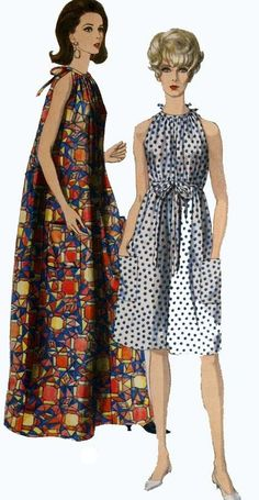 1960s Halter MuMu CoverUp or Dress Vogue 6797 Vintage 60s Sewing Pattern Size Medium 14/16 Bust 34/36 by sandritocat on Etsy