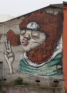 New Plymouth NZ Street Art of Mikaere Gardiner New York Street Art, Street Art Love, Urban Street Art, Amazing Street Art, Urban Art, Wall Street, Murals Street Art, Street Art Graffiti, Bugatti