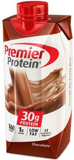Premier Protein® Chocolate Shake (11 oz.) 30 g protein and only 160 calories!