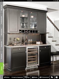 Trying to decide on cabinet and granite colors...light/dark or dark/light? Love this grey.