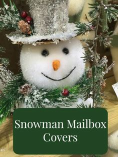 Snowman mailbox covers add such a cheery holiday lift to our home mailboxes, don't they? You just can't resist smiling back at those jolly round snowmen. Christmas Books, Christmas Music, Vintage Christmas, Christmas Time, Christmas Crafts, Christmas Ornaments, Christmas Ideas, Unique Christmas Decorations, Holiday Decor
