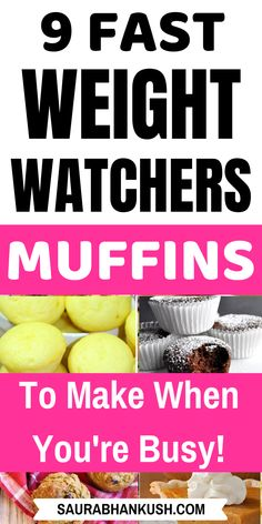 Weight Watchers Muffins Freestyle With SmartPoints? 9 Easy Weight Watchers Muffins Recipes with Points like pumpkin muffins, banana muffins, oatmeal muffins and lemon muffins. These ww muffins are best weight watchers breakfast, just try them once. Weight Watchers Muffins, Weight Watchers Pumpkin, Weight Watchers Meal Plans, Weigh Watchers, Weight Watchers Snacks, Weight Watchers Breakfast, Weight Watcher Dinners, Smart Points, Skinny Recipes