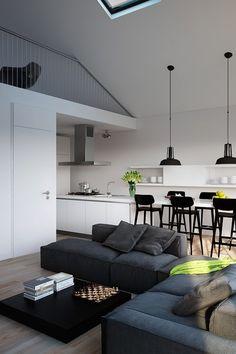 11 Monochrome Living Room Design Tips Living Room Interior, Home Living Room, Living Room Designs, Living Room Decor, Dining Room, Room Kitchen, Living Area, Dining Table, Bad Room Design