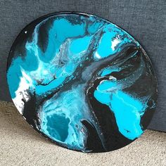 """""""DEMI"""" so pretty with a resin finish #art #artist #artwork #ink #instaart #home #melbourneart #style #styling #decor #wallart #sydney #pretty #reno #house #melbourne #perth #painting #paint #instadaily #saturday #weekend #green #ericarubycreations #circleart #circle"""