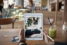 iPad Pro in the cafe 2 by show it better on @creativemarket