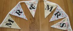 Mr & Mrs Wedding Bunting