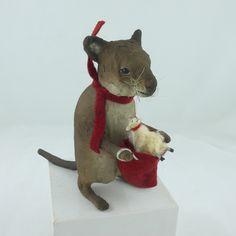 Craig Yenke Mouse Carries Tiny Sheep in Sack Folk Art Animal | eBay