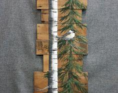 Weihnachten Zeichen White Birch rote Birne von TheWhiteBirchStudio
