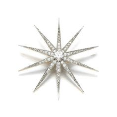 A diamond brooch/hair ornament, early 20th century, by Friedländer, BerlinMarie Poutine's Jewels & Royals: Diamond Stars