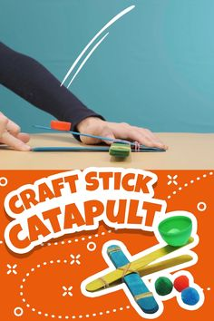 A fun and simple DIY craft for your little one. Create entertaining catapults from craft sticks as a fun indoor craft and activity! activities for toddlers preschool Craft Stick Catapults - A Great Indoor DIY STEM Activity for Kids!