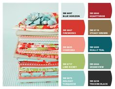 When contemplating your next interior design, let your textile of choice inspire your color palette.