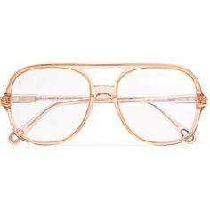 ab657f0e9a713 ChloéPatty Aviator-style Acetate Optical Glasses (24.980 RUB) via Polyvore  featuring accessories