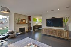 Modern Media Consoles Living Room With Credenza Seagrass Area Rugs
