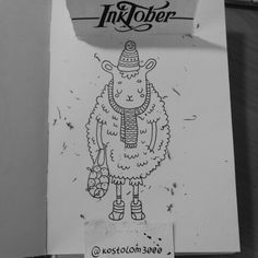 #inktober #inktoberkostolom3000 #ink #inkart #sheep #happynewyear #Christmas #art #artwork #artoftheday #illustration #draw #drawing #cuteart #cutie #kostolom3000 #AnnaAlekseeva