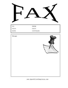 A Delivery Van Is Pictured On This Printable Fax Cover Sheet For