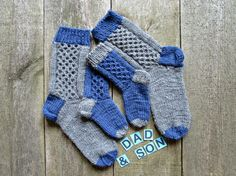 Father son matching socks for dad sonn Family by IrinasSTRICKMODE