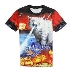 Apocalypse Meow T-shirt  Cat destroys civilization!