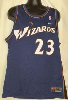 3e89d15b18cd Nike Men s Washington Wizards Micheal Jordan Jersey Embroidred Size XL