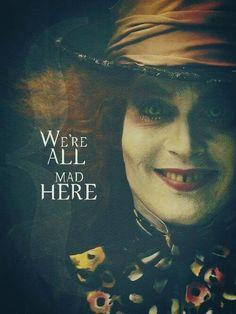 alice in wonderland, johnny depp, and mad hatter resmi