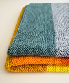 Faye's New Super Easy Baby Blanket! - Knitting Crochet Sewing Crafts Patterns and Ideas! - the purl bee Easy Knit Baby Blanket, Knitted Baby Blankets, Purl Bee, Baby Knitting, Crochet Baby, Knit Crochet, Loom Knitting, Crochet Granny, Knitting Projects