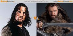 Aragorn Vs Thorin | Barmy Battles Film Trilogies, Hobbit Films, Thorin Oakenshield, Aragorn, Jrr Tolkien, Richard Armitage, Middle Earth, Lotr, Tom Hiddleston