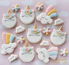 "672 Likes, 40 Comments - Natalia Campbell (@cookielicious_nz) on Instagram: ""Because unicorns makes me happy I need these cookies as it's been so dreary around here, winter…"""