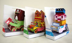 Calling all cars project - paper toys